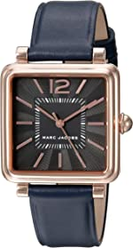 Marc Jacobs Women's Vic Navy Leather Watch - MJ1523