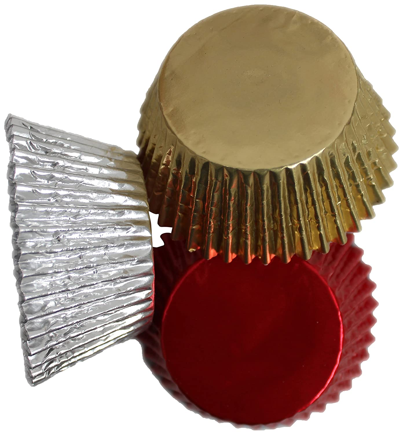 Gold and Silver Mixed Foil Cupcake x 30 Cases Scrumptious Red