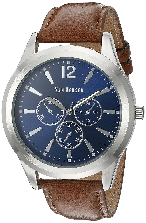 9c61e66d2 Amazon.com: Van Heusen Men's Quartz Metal Dress Watch, Color:Brown (Model:  VAN5056): Watches