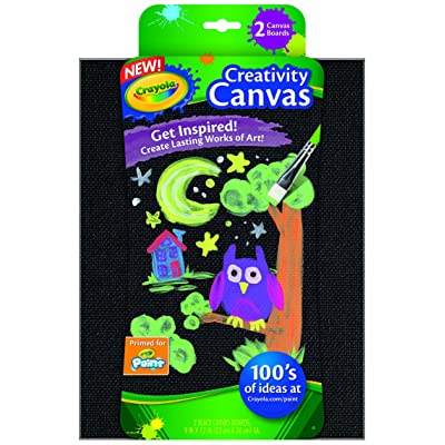 Crayola Paint Canvas Sets, Black: Toys & Games