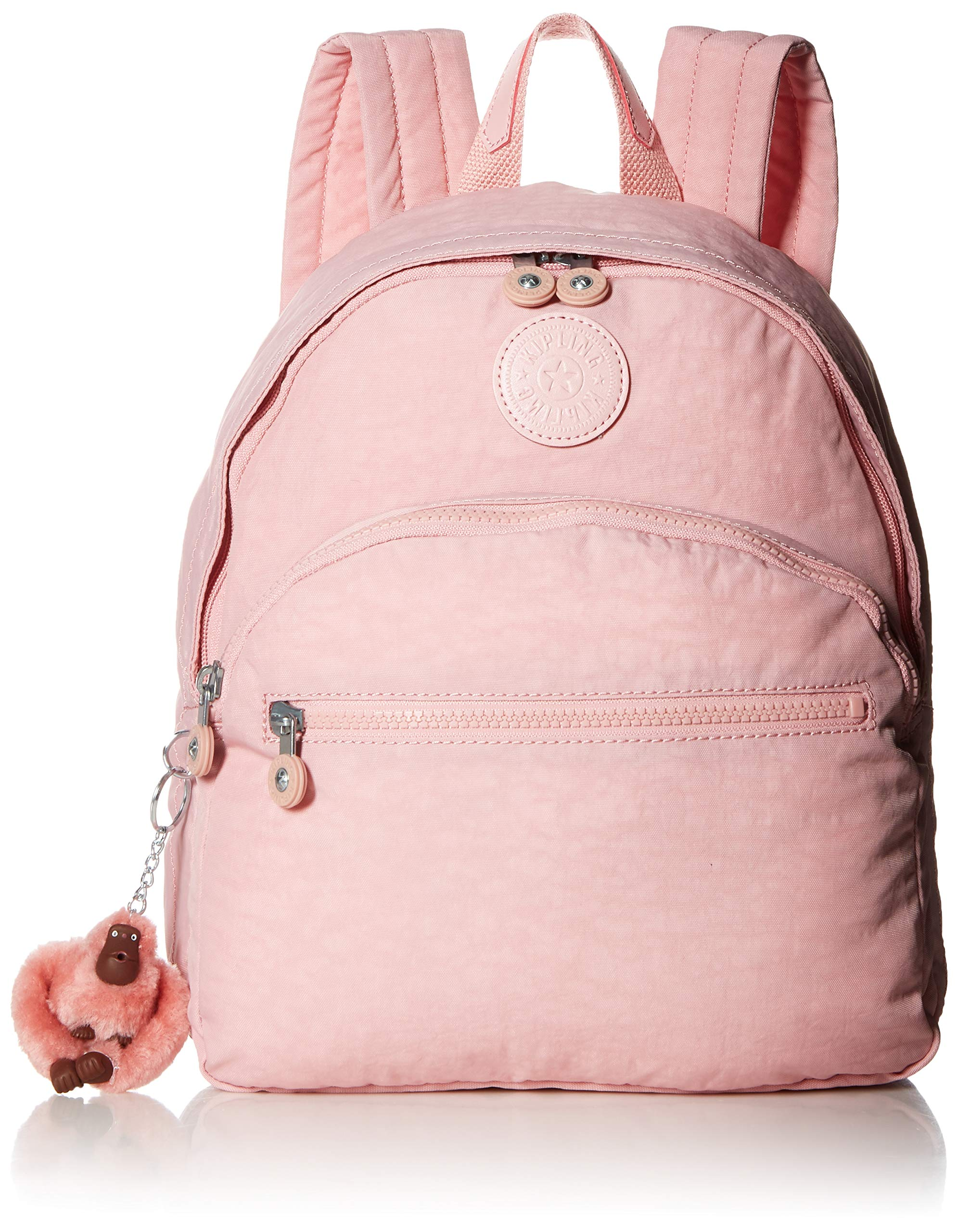 Kipling womens Paola Backpack, Adjustable, Padded Backpack Straps, Zip Closure, blushing posies blue, One Size