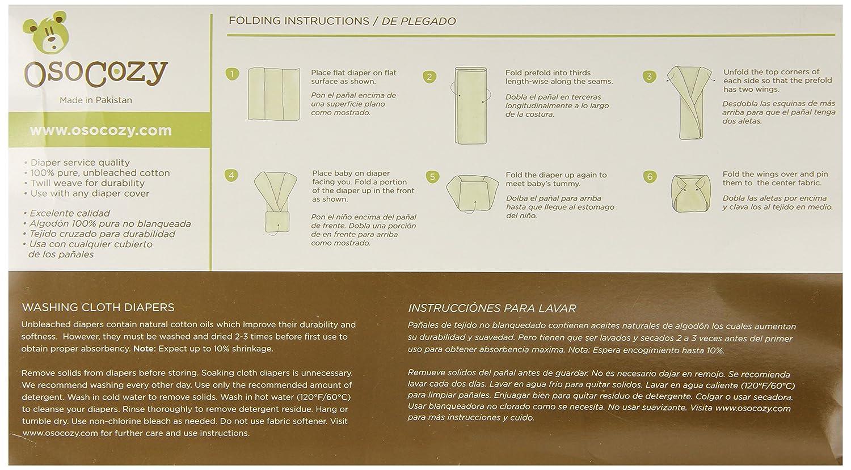 OsoCozy - Pañales de tela predoblados sin blanqueantes (talla 2, 6 unidades): Amazon.es: Salud y cuidado personal