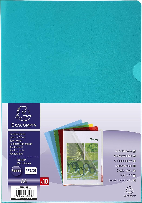 Amazon.com : Exacompta 660500E PVC Cut Flush Folder - Multi ...