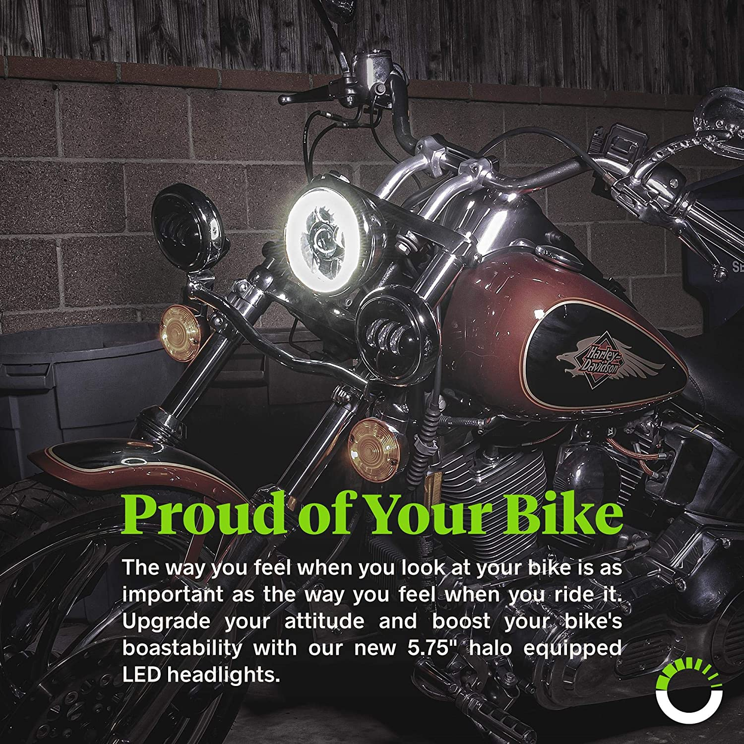 5.75 HALO DRL 5 3/4 Round LED Motorcycle Headlight for Dyna Street ...