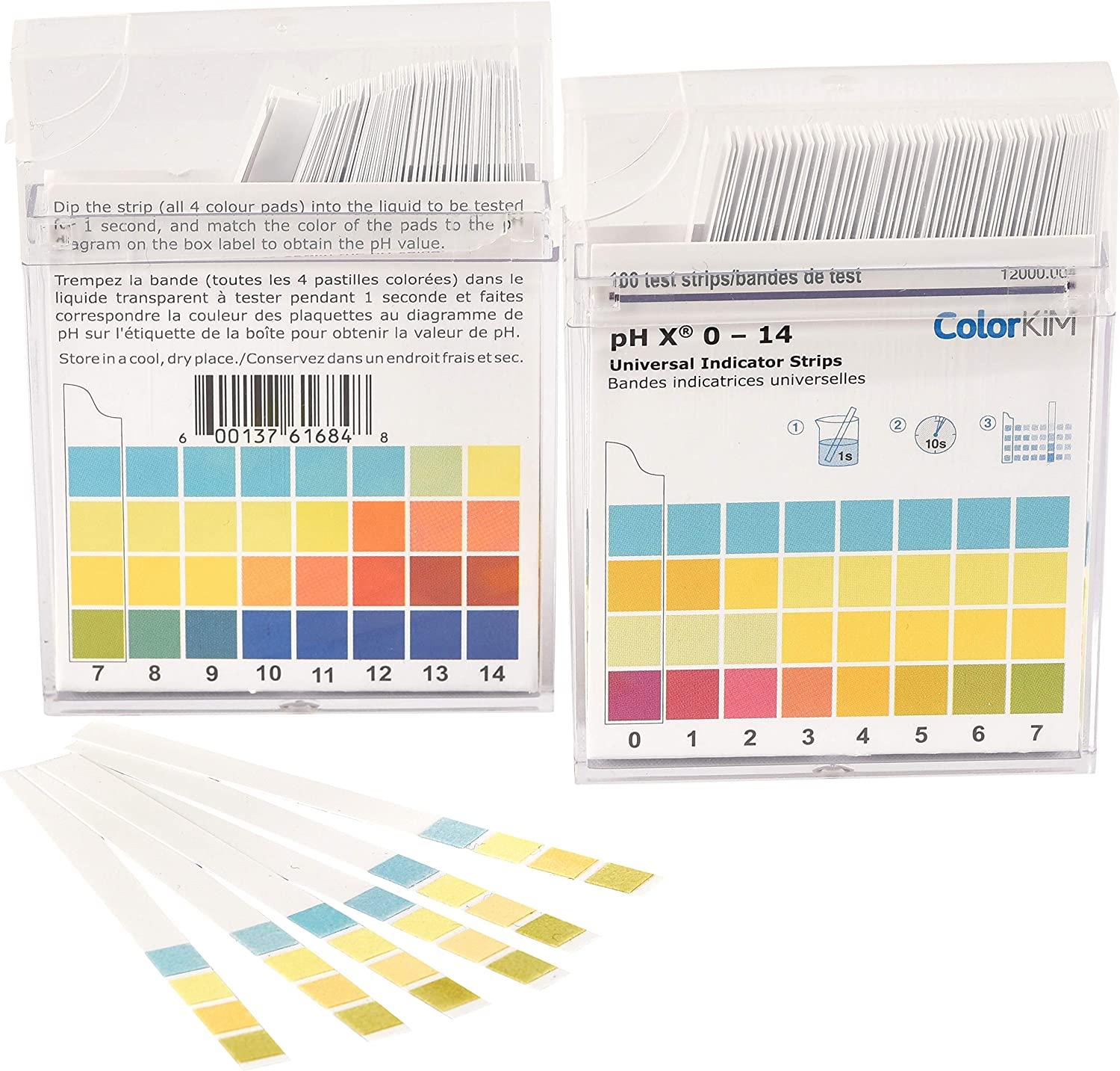pH Strips, 0-14 Scale, for Testing Water pH, Made of Premium Litmus Paper (100 Strips)