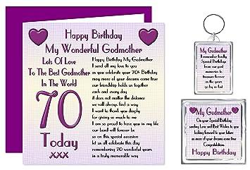 Godmother 70th Happy Birthday Gift Set