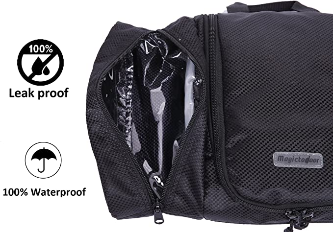 6a8d37414ab4 Magictodoor Hanging Toiletry Kits Flat Bathroom Bags Cosmetic Bag