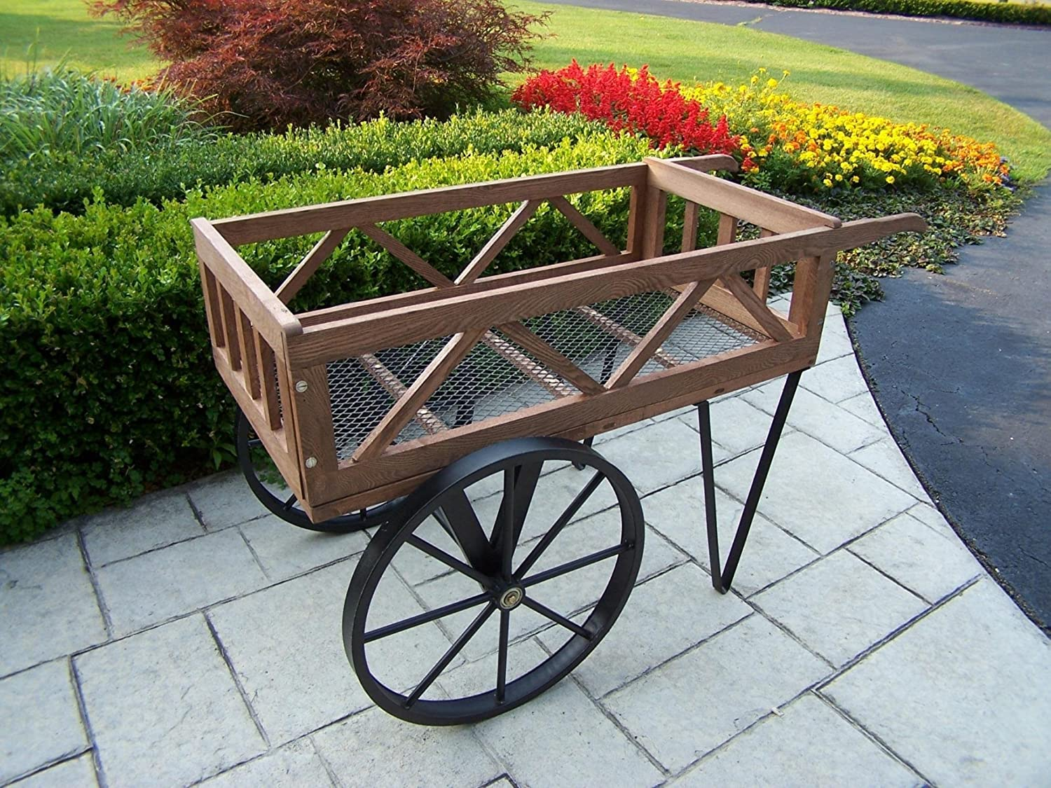 Amazon Com Oakland Living Flower Garden Wagon Black Plant