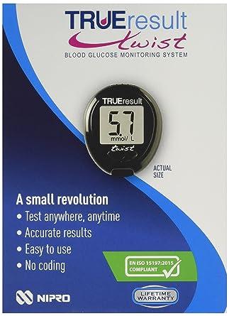 Nipro TRUE Result F75587-BLK Twist Blood Glucose Meter
