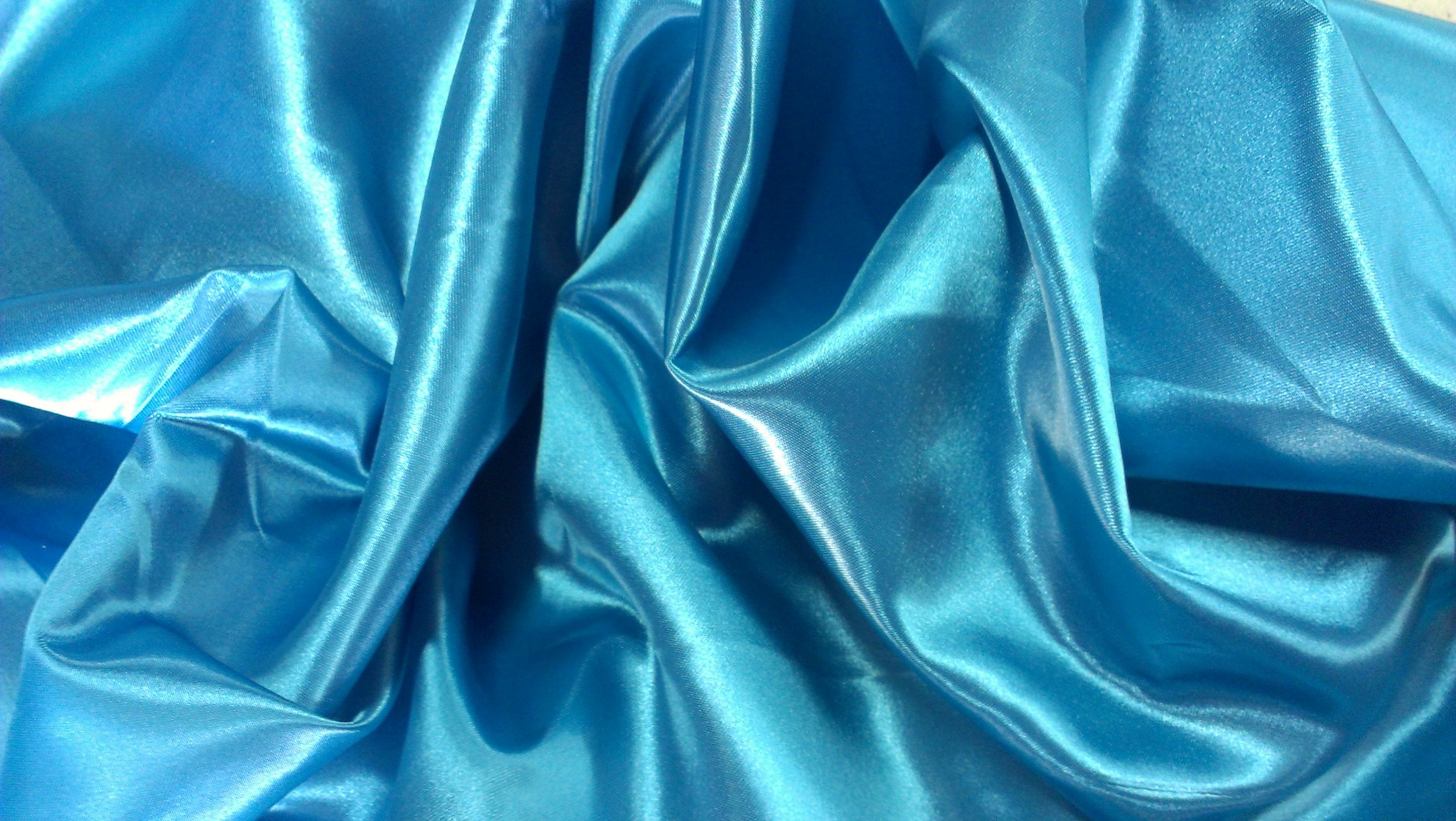 Satin Aisle Runner 50Ft 5 Ft wide - wedding, red carpet events - seamless (Turquoise) by Linen Superstore