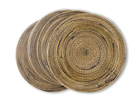 Amazon.com: Hecho a mano hilado de bambú Posavasos para ...