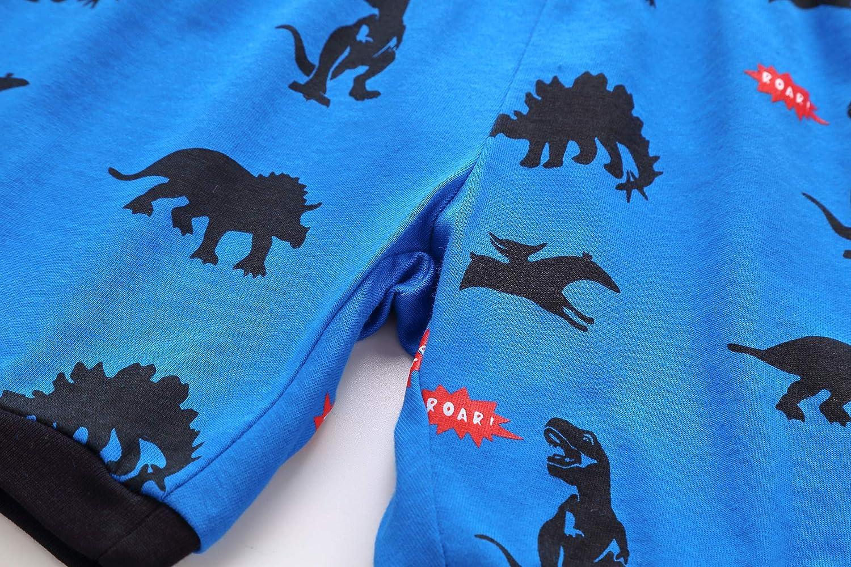 RKOIAN Little Boys Short Pajamas Sets Toddler PJS Cotton Kids Sleepwears
