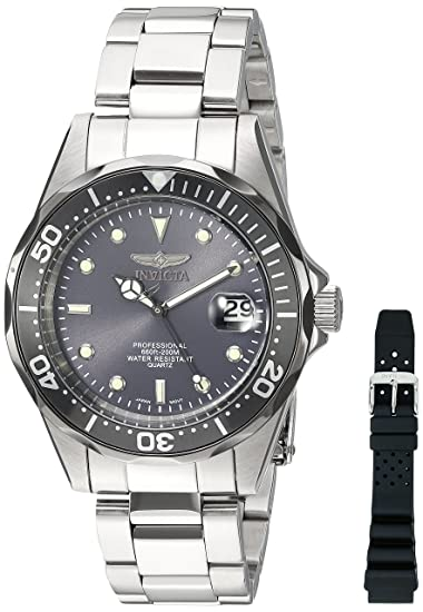 Invicta Mens 12812X Pro Diver Analog Japanese Quartz Silver Stainless Steel Watch