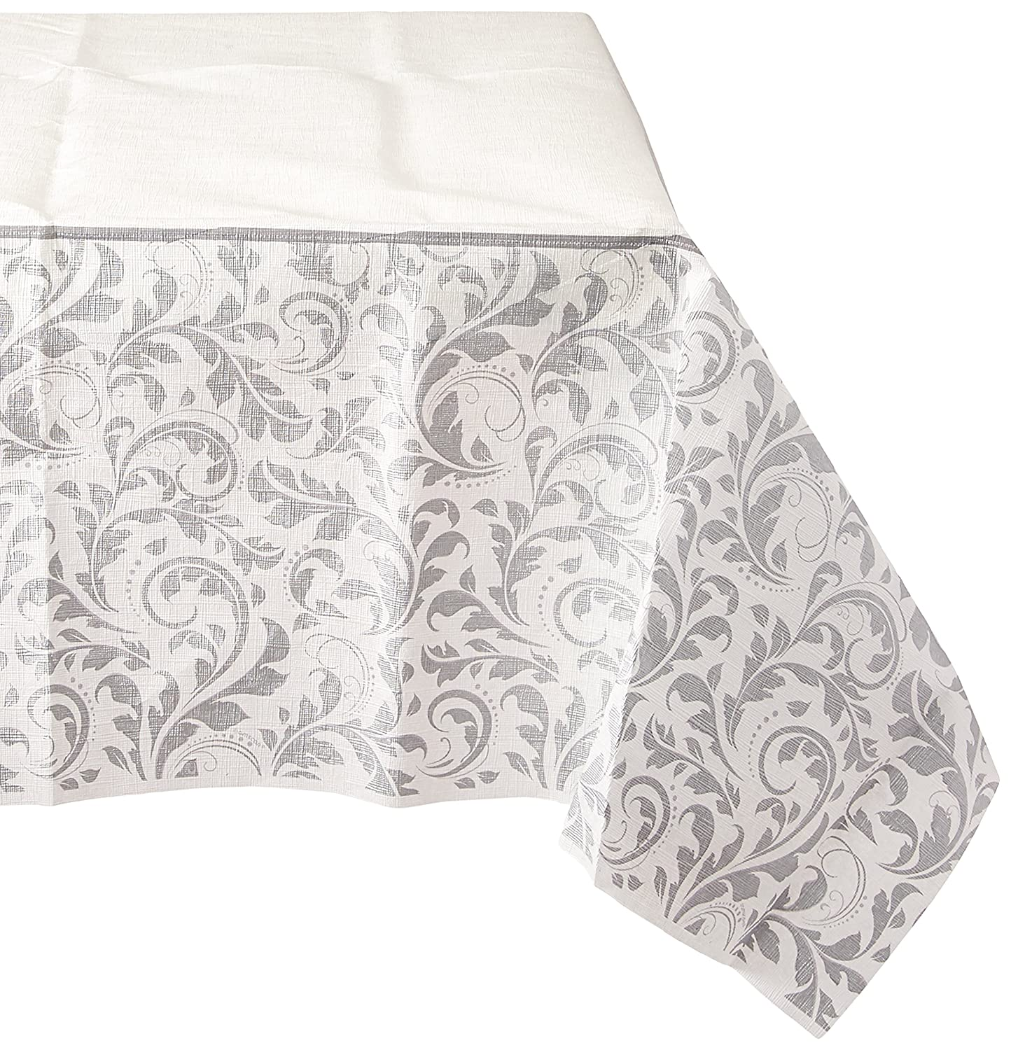 Amscan Silver Wedding Paper Table Cover | Wedding and Engagement Party 6 Ct.