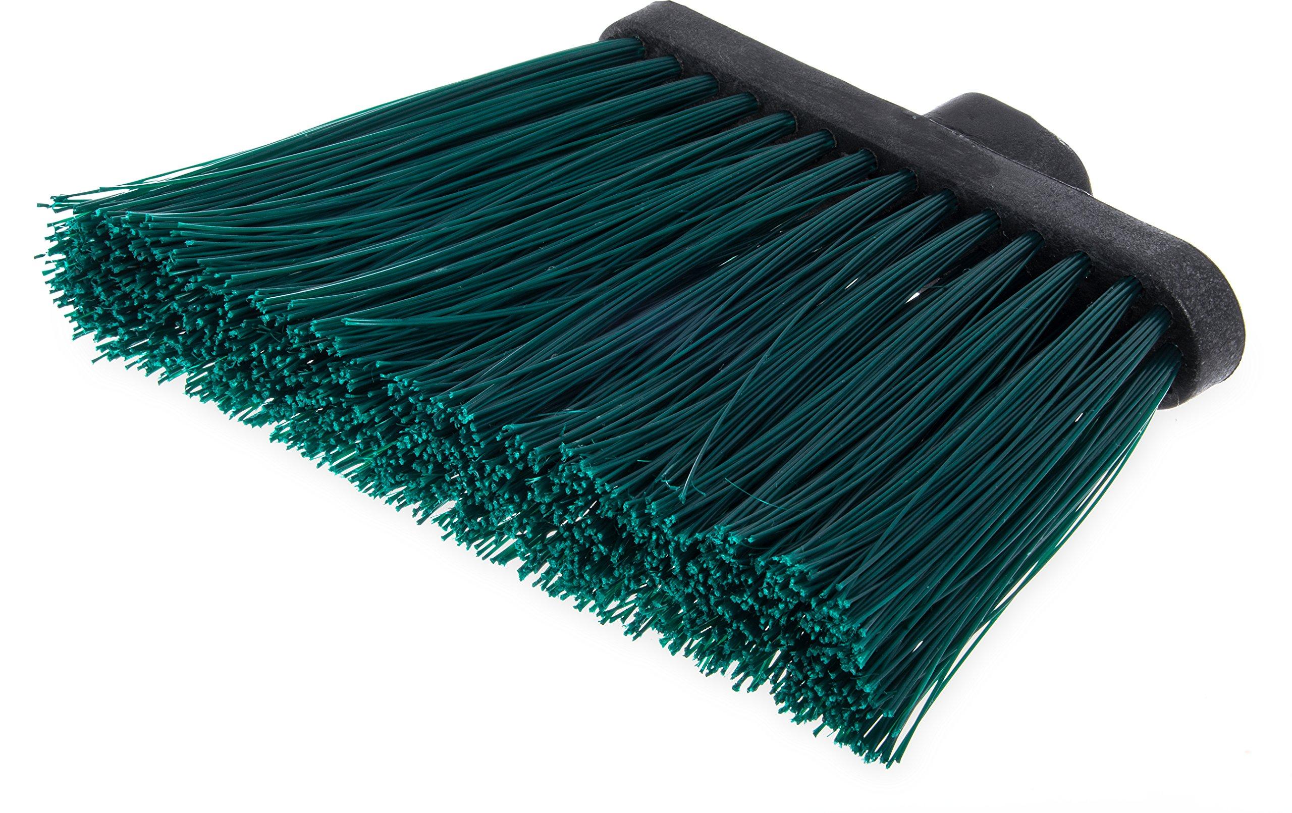 Carlisle 3686809 Duo-Sweep UnFlagged Angle Broom Head, 8'', Green (Pack of 12)
