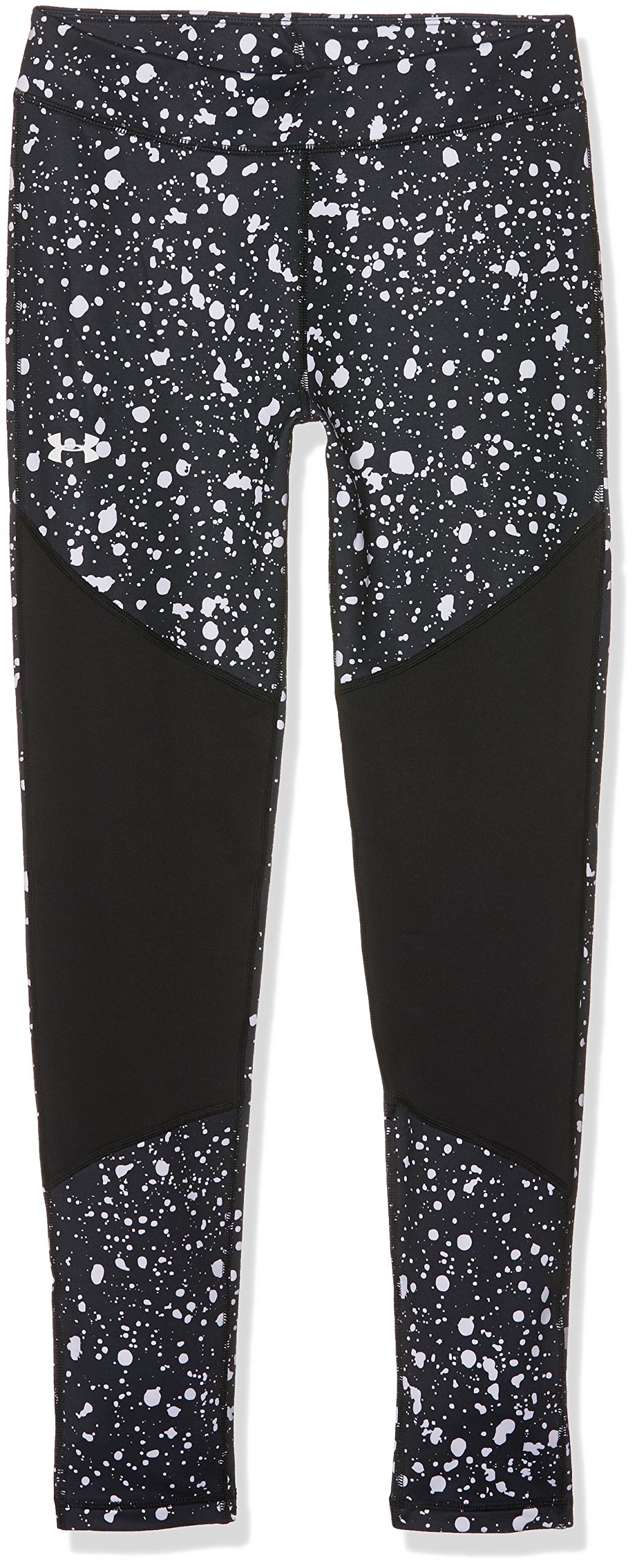 Under Armour Girls' ColdGear Novelty Leggings,Black (001)/White, Youth X-Large by Under Armour