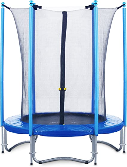 blau bis 90 kg 183 cm Durchmesser mit Sicherheitsnetz Trampolin