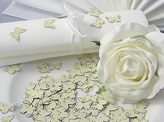 EinsSein 10g Streudeko Hochzeit Butterfly creme Tischdeko Hochzeit ca. 160St