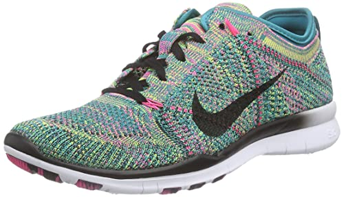 newest 17567 06cc1 Nike Women s WMNS Free TR Flyknit, Multicolor-Radiant Emerald Black-Pink POW