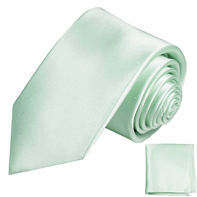 Krawatte 100/% Seide schmale TigerTie Satin Seidenkrawatte in grün einfarbig