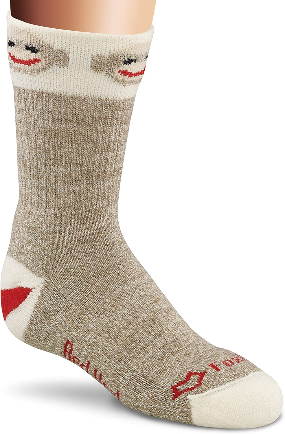 Kids Brown Original Rockford Red Heel Socks