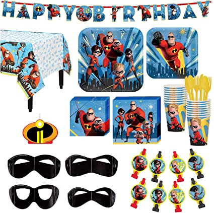 Amazon The Incredibles 2 Birthday Party Kit Includes Happy