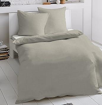 Dormisette 2 Tlg Jersey Bettwäsche 135 X 200 Cm Beige Mako Baumwolle