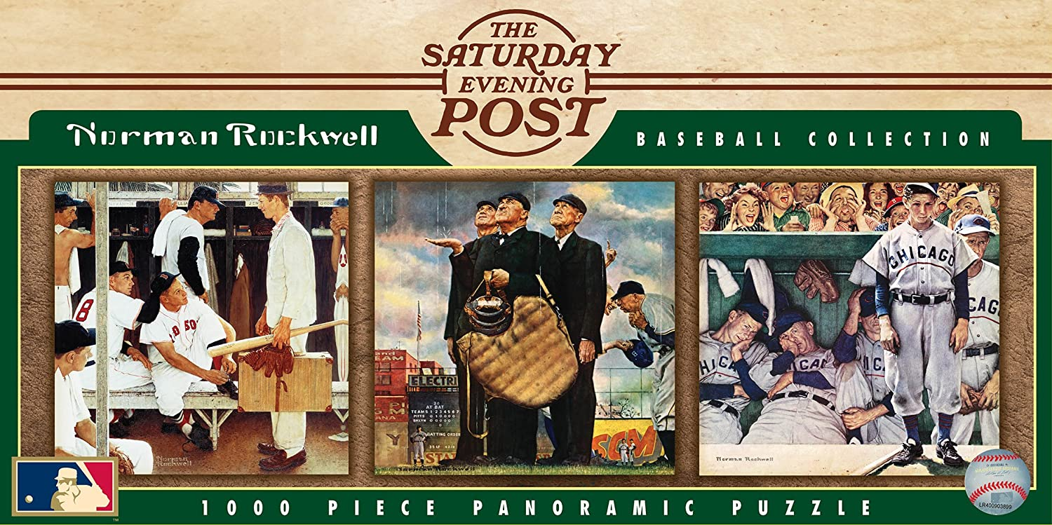 MasterPieces Norman Rockwell Baseball Jigsaw Puzzle, 1000-Piece