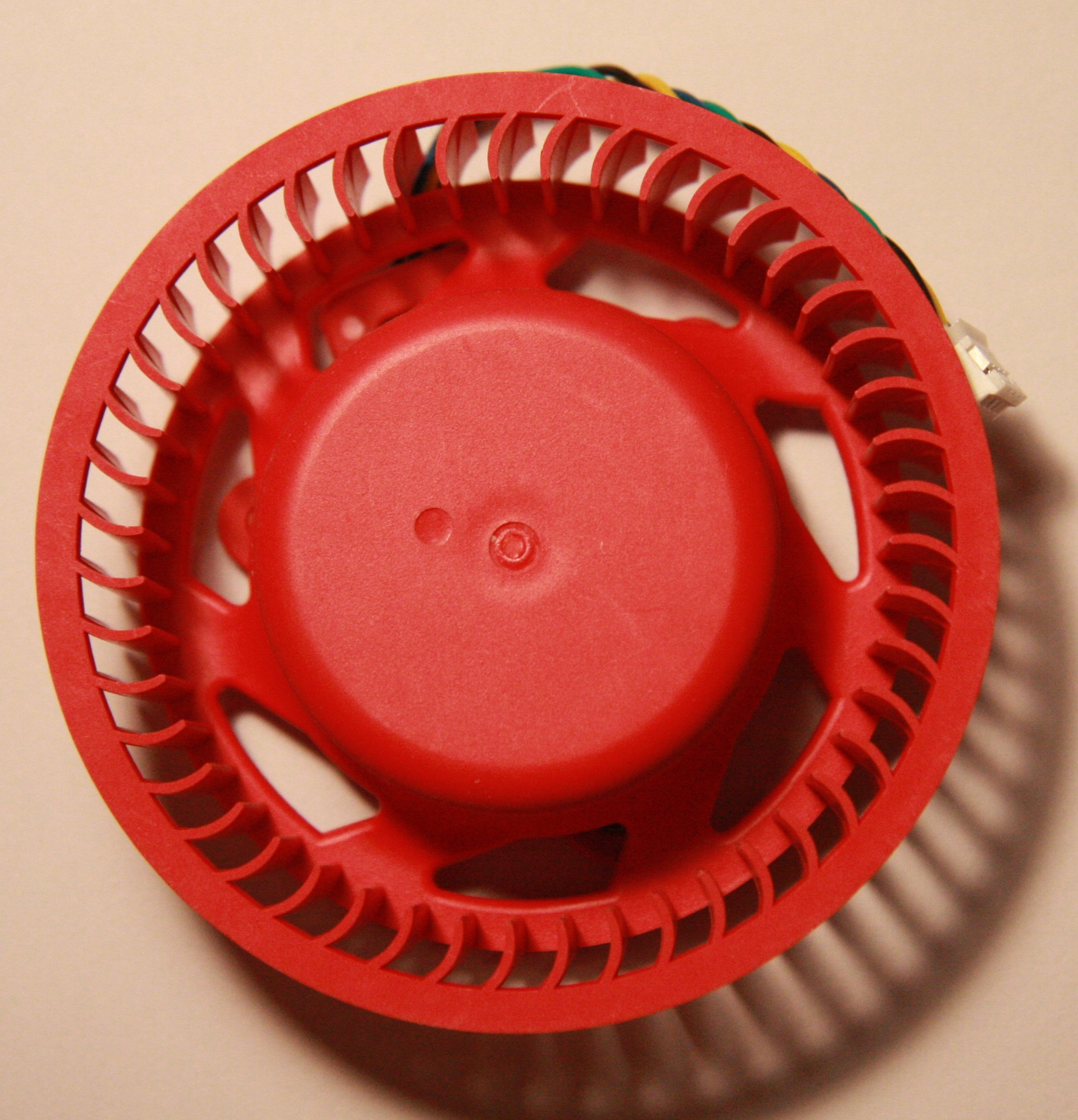 Video Card Red Fan Replacement for ATI/AMD Radeon 7950 7990 6970 6950 5970 5870 5850 5650 4890 4870 and etc (75mm fan, 4pin)