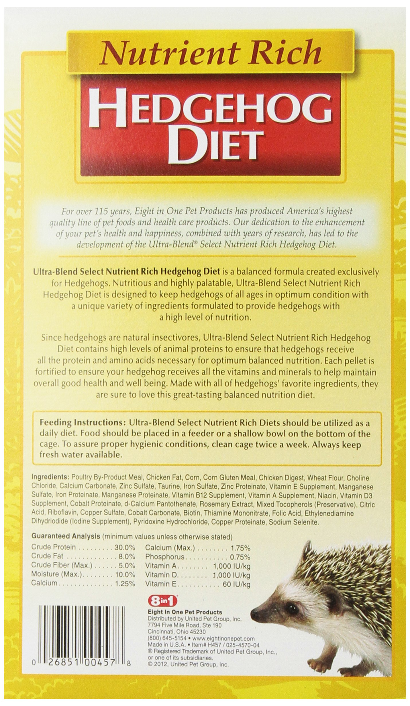 Eight in One (8 In 1) 8 In 1 Ultra-Blend Select Hedgehog Diet, 22-Ounce by Eight in One (8 In 1) (Image #4)