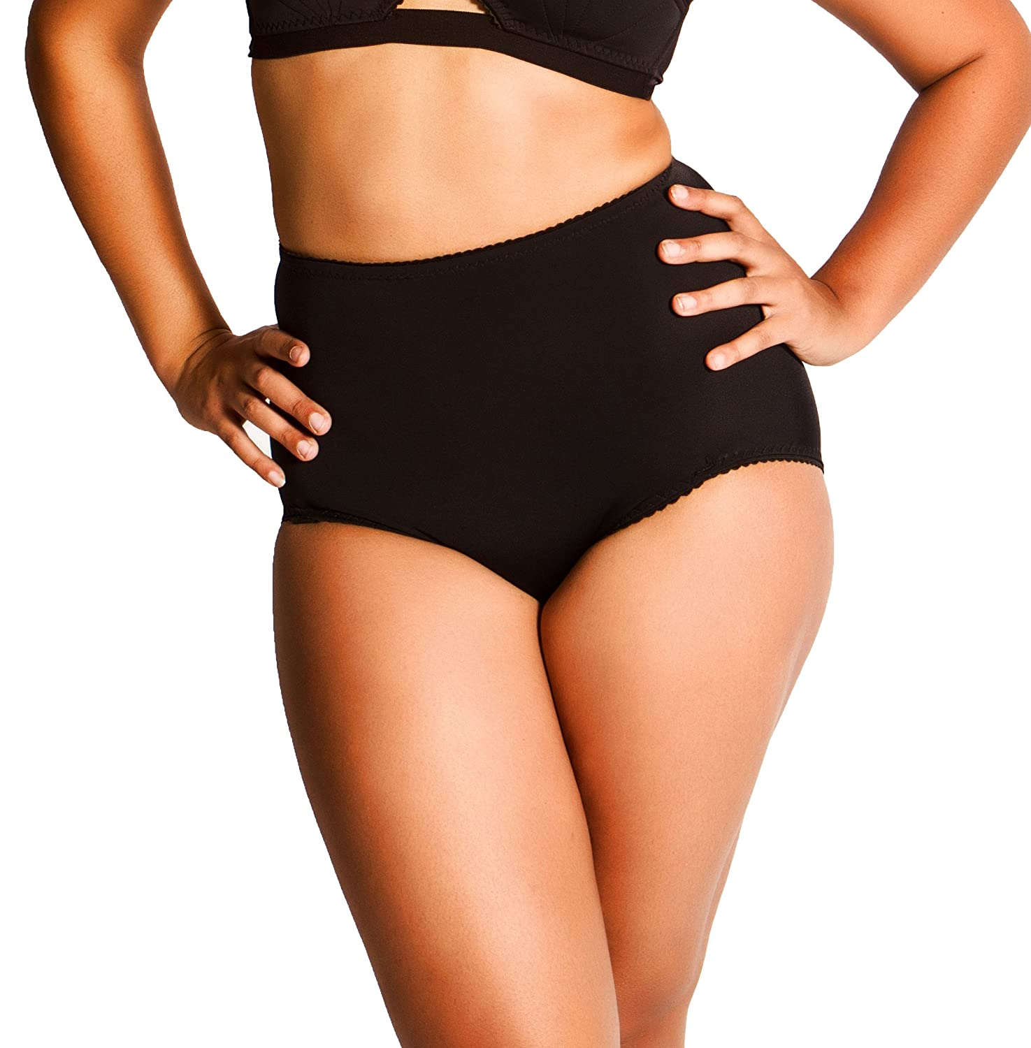 7d3c75a47df9 What Katie Did Knickers High Waist Black Liz: Amazon.co.uk: Clothing