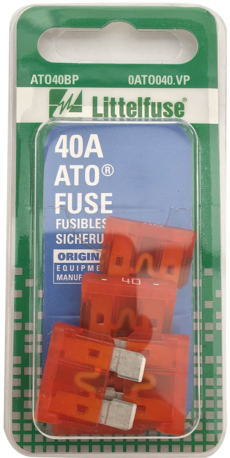 Littelfuse 0ATO040.VP ATO 32 Volt 40 Amp Carded Fuse, (Pack of 5)