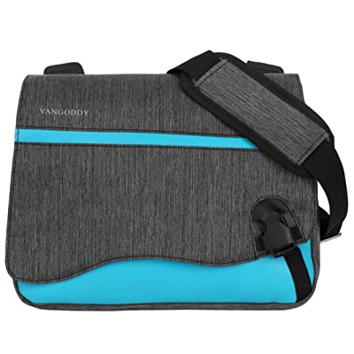 Universal 2 in 1 Messenger and Briefcase Laptop / Tablet Bag (10.2, Blue)