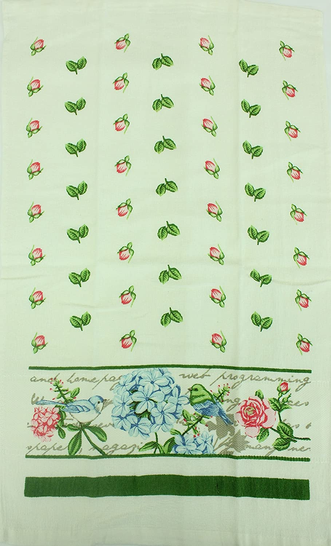 Coffee Decorative Kitchen Dish Towel 5 Pack Set 15 x 25 Tea Towels 100/% Cotton Path13