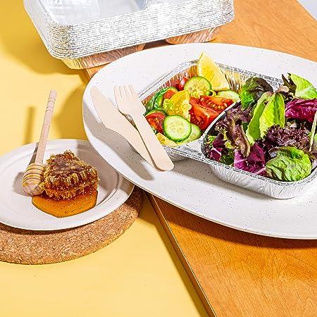Ungeteilt BEELEEVE Braten Einweg-Lebensmittelbeh/älter Mikrowellenofen-sichere Men/üschalen zum Grillen 31-St/ück Meal Prep stabile Aluminiumschalen Zubereiten sowie Lagern von Mahlzeiten