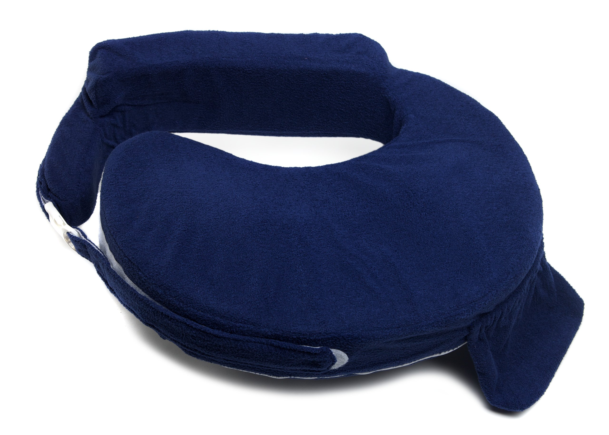 My Brest Friend Nursing Pillow Deluxe Slipcover – Machine Washable Breastfeeding Cushion Cover - pillow not included, Navy by My Brest Friend (Image #2)