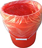 5 Gallon Bucket Liner for Marinading and Brining - Disposable Pail Liner 25 per roll (25)