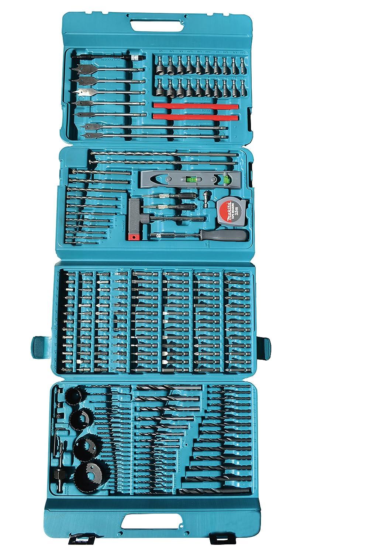 Makita P-44046 Juego de brocas 216 piezas Makita HP457DWE10 Taladro percutor