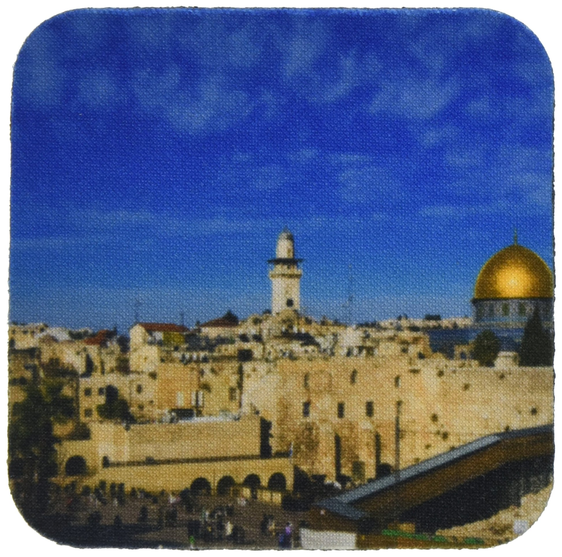 3dRose cst_72719_2 Israel, Jerusalem, Western Wall and Dome of The Rock-AS14 APA0127-Aldo Pavan-Soft Coasters, Set of 8