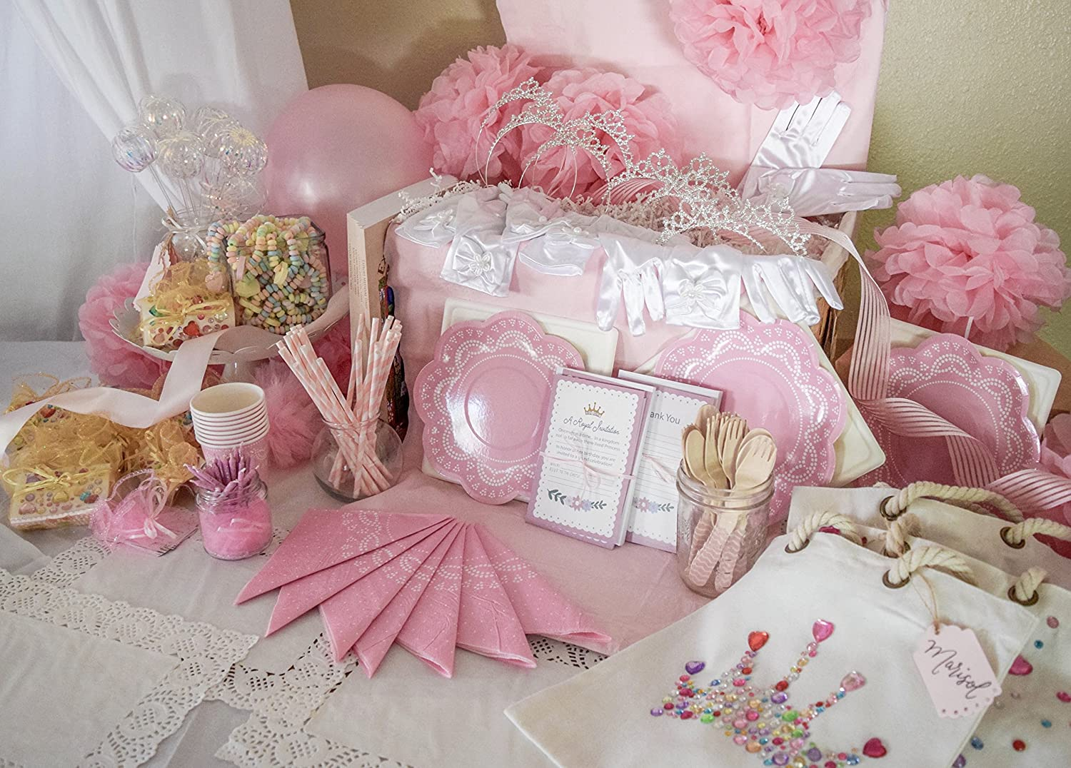 Amazon.com: Princess Birthday Party Supply for 8 - The Ultimate ...