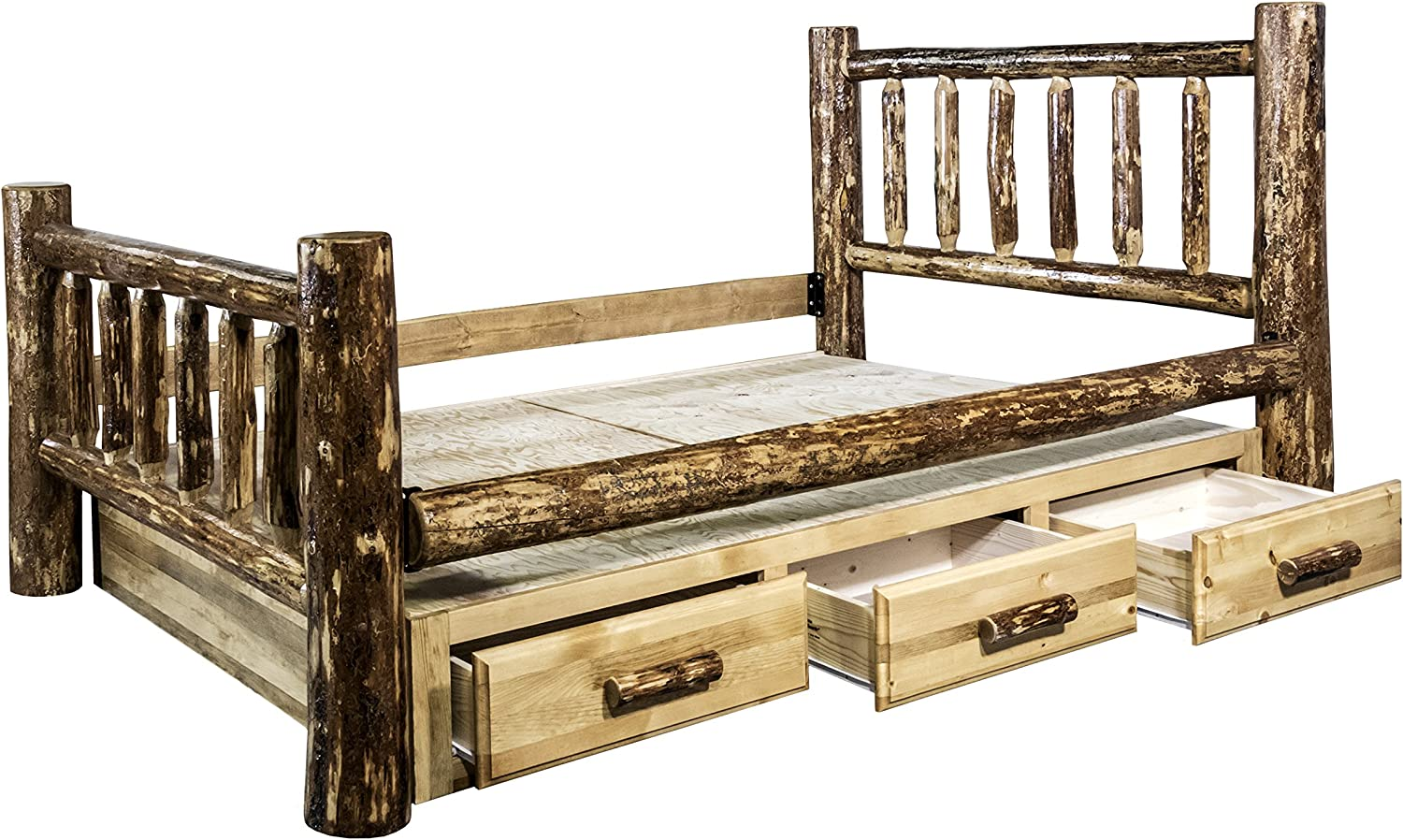 Montana Woodworks Glacier Country Collection Bed with Storage, Twin