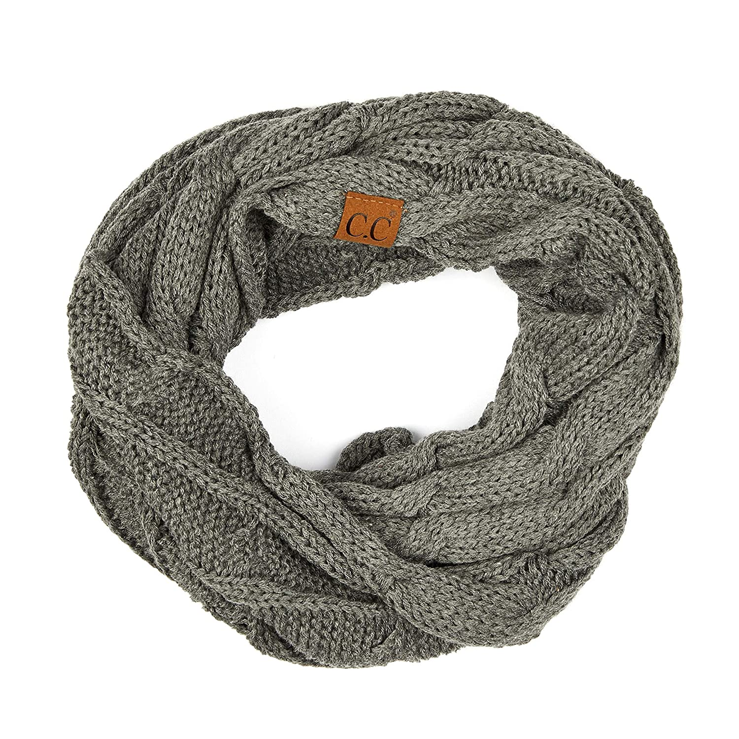 C.C Exclusives Solid and Multi Color Cable Kint Infinity Scarf C.C®