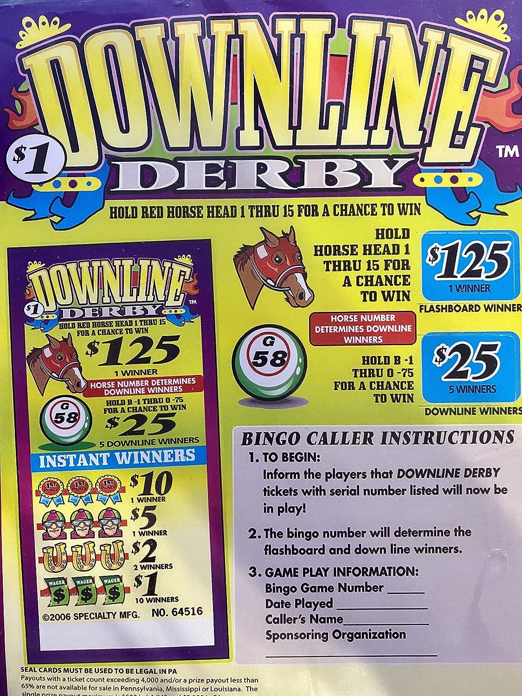 Downline $500 Derby Bingo Horse Race Pull Tab Game