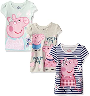 Peppa Pig Girls Short-Sleeve T-Shirt (Pack of 3)