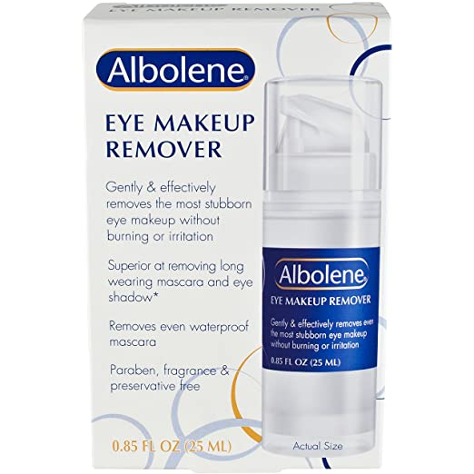 Amazon.com: Albolene Eye Makeup Remover | Removes Makeup Without Burning or Irritation | Moisturizes and Conditions the Skin | Contact Lens Safe | 0.85 ...