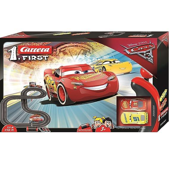 Carrera First Rayo Mcqueen, Dinoco Cruz Disney·Pixar Cars Circuito de Coches (20063011): Amazon.es: Juguetes y juegos