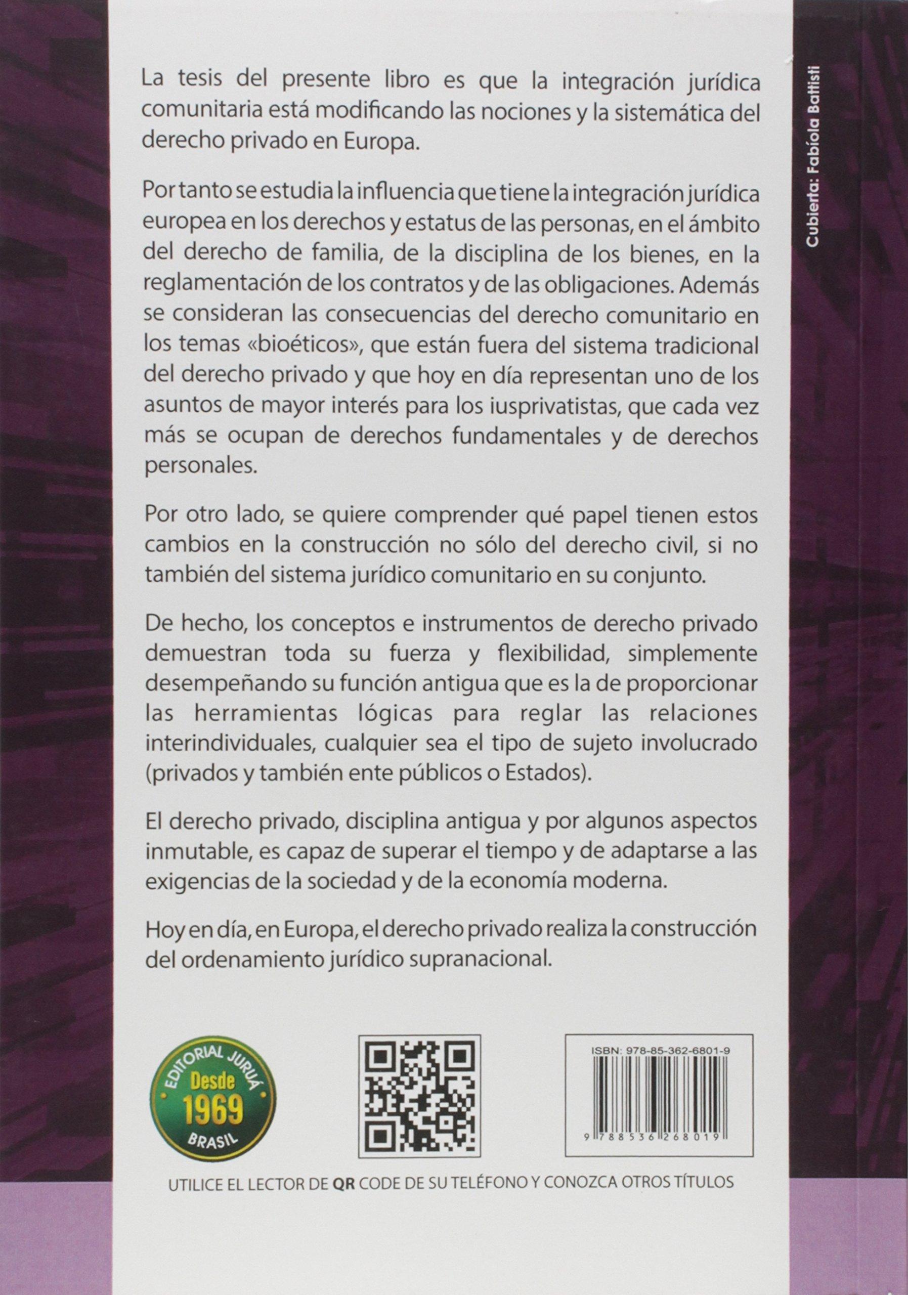 Construcción del Derecho Privado en la Unión Europea. Sujetos y Relaciones Jurídicas: Roberto Cippitani: 9788536268019: Amazon.com: Books