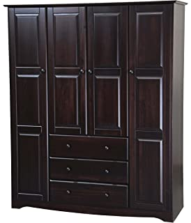 100% Solid Wood Family Wardrobe/Armoire/Closet 5966 By Palace Imports