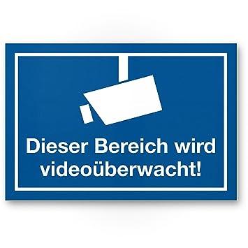 Este bereicht se videoüberwacht - Rótulo (Azul), Nota ...
