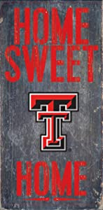 Fan Creations Texas Tech Red Raiders Wood Sign - Home Sweet Home 6x12